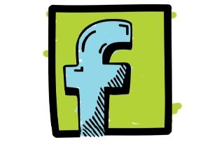 Dessin du logo de Facebook
