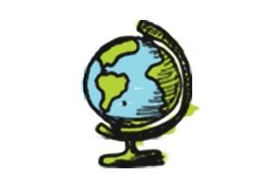 Dessin d'un globe terrestre